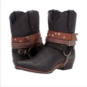 NWT Durango Crush Accessory Western Ankle Boots